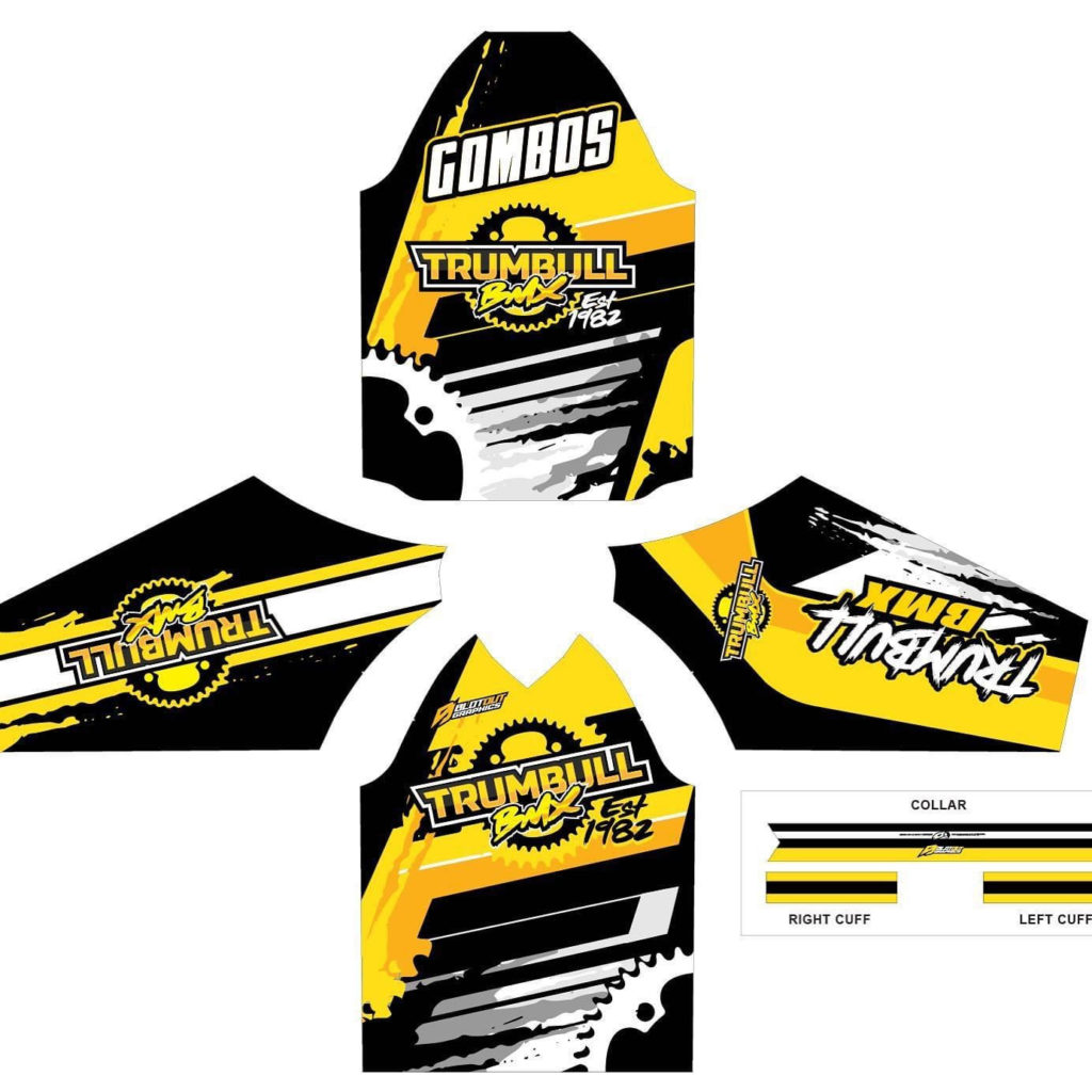 Trumbull BMX Track Jersey - yellow